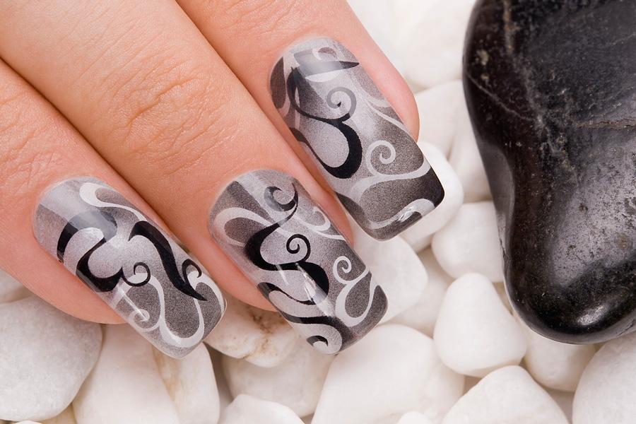 Дизайн ногтей с аэрографом видео